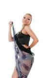 Sexy blonde dansende vrouw Royalty-vrije Stock Afbeelding