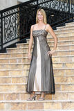 Sexy Blonde in an Evening Gown (1) Royalty Free Stock Image
