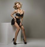 Sexy blonde Frau Lizenzfreies Stockbild