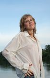 Sexy blonde girl Stock Photos