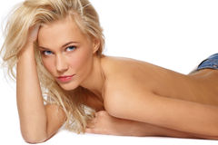 Sexy blonde girl Royalty Free Stock Image