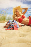Sexy blonde girl on the  beach. Sexy blonde girl on the summer beach Stock Photo