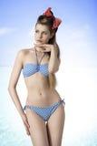 Sexy blonde girl in bikini Royalty Free Stock Photo