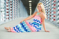 Sexy Blonde Girl fashion model Royalty Free Stock Photo