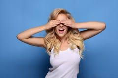 blonde girl posing royalty free stock image