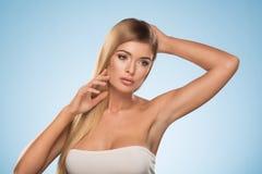 Sexy blonde girl posing Stock Photography