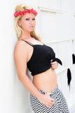 Sexy Blonde Girl Urban Fashion Model Stock Photos