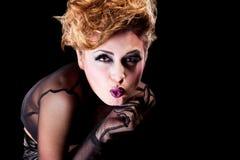 Sexy blonde girl  wiht cool makeup Stock Photos
