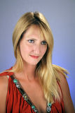 Sexy Blonde Headshot (1) stock foto