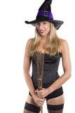 Sexy blonde Hexe Lizenzfreies Stockfoto