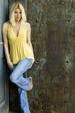Sexy Blonde Model Stock Photo