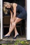 Sexy blonde model Stock Fotografie