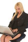 Sexy blonde onderneemster royalty-vrije stock afbeeldingen