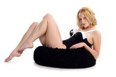 blonde in pin-up pose Royalty Free Stock Photography