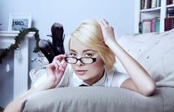Sexy blonde secretary Stock Photography
