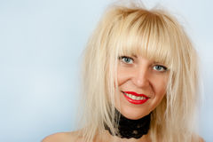Sexy blonde with  shaggy hair Stock Image