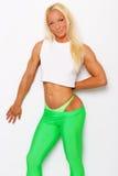 Sexy blonde sportliche Frau stockfotos