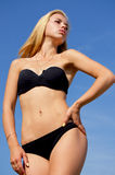 Sexy blonde in a swimsuit. Royalty Free Stock Images