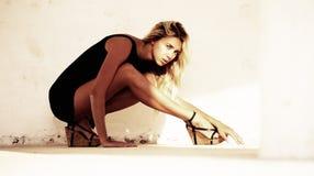 Sexy blonde tiener Stock Fotografie