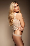 blonde in underwear Royalty Free Stock Images