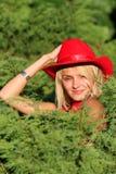 Sexy blonde veedrijfster Stock Fotografie