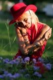 Sexy blonde veedrijfster Royalty-vrije Stock Fotografie