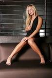 Sexy blonde vrouw Stock Afbeelding