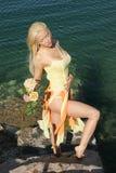 Sexy blonde vrouw Stock Afbeeldingen