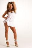 Sexy blonde vrouw Stock Foto's