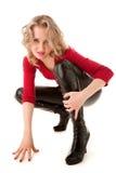 Sexy blonde vrouw Royalty-vrije Stock Afbeeldingen