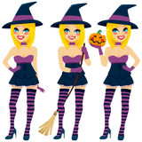 Sexy Blonde Witch Stock Photos