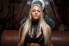 Sexy blonde woman Stock Photos