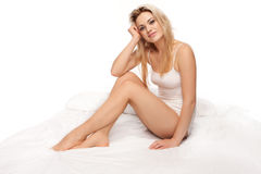 Sexy blonde woman Stock Images