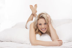 Sexy blonde woman Stock Photos