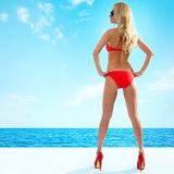 Sexy blonde woman Royalty Free Stock Image