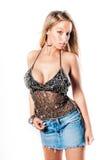 Sexy blondemeisje/mannequin royalty-vrije stock foto's