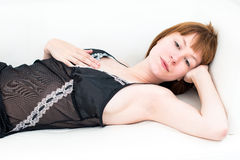 Sexy body-beautiful young attractive caucasian woman Royalty Free Stock Photo