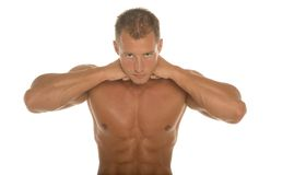 Sexy body builder Stock Images