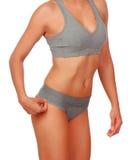 Sexy body woman with grey underwear Stock Photos