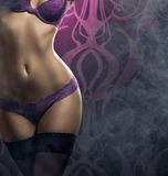 Sexy body of a young woman in erotic lingerie Stock Image
