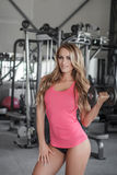 Sexy bodybuilder workout Stock Image