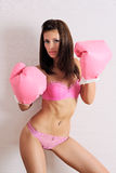 Sexy boxer model Royalty Free Stock Images