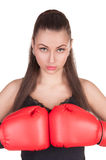 Sexy Boxing Woman Royalty Free Stock Photos