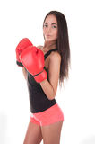 Sexy Boxing Woman Stock Images