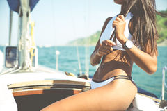Free Sexy Brazilian Woman On Her Yacht Royalty Free Stock Photo - 88896165