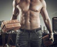 Sexy bricklayer Stock Photos