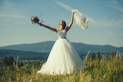 Sexy bride cute woman royalty free stock photography