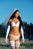 Sexy bride in lingerie Stock Photo