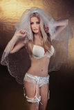 Sexy bride in lingerie. Stock Image