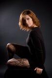 Sexy brunette royalty-vrije stock foto